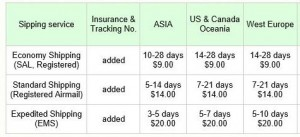 2013-04-05 -1 Shipping service